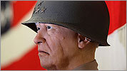 A wax figure of General George Patton, Jr.