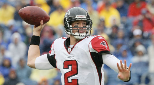 Matt Ryan threw a pass in the first quarter.