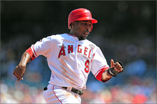 The Angels may have become more patient at the plate, but they're still their usually aggressive selves on the basepaths. They finished third in the American League in stolen bases with 148, trailing Tampa Bay (194) and Texas (149), but their total this year was 21 more than a season ago, when they finished second in the AL. Figgins (pictured) led the Angels, who had six players in double figures, with 42 steals. On the flip side, the Angels led the American League in caught stealing, getting nabbed 63 times. But the Angels' team speed will be a major concern for the Red Sox, given that Los Angeles's strength plays into a Boston weakness. Red Sox catchers Jason Varitek and Victor Martinez combined to throw out just 18 of 125 runners attempting to steal.