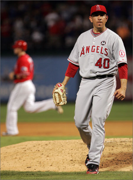 For years, the Angels featured one of the premier closers in baseball in Francisco (K-Rod) Rodriguez. But after setting an all-time record with 62 saves last season, he departed as a free agent, signing a three-year, $37 million deal with the New York Mets. Brian Fuentes, a lefthander who pitched previously for the Colorado Rockies, was signed as Rodriguez's replacement. For the most part, he filled his shoes capably, saving a league-leading 48 games and making the All-Star team. But his statistics aren't spectacular -- in 55 innings, he had a WHIP of 1.40, and his ERA of 3.93 was also high for a closer. Perhaps more alarming to Angels manager Mike Scioscia, Fuentes has struggled recently, putting up a 4.81 ERA in the second half and allowing 24 baserunners in 11.2 innings since Sept. 1.