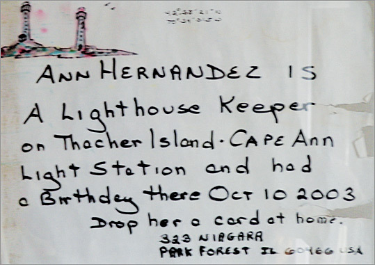 Ann Hernandez's message in a bottle was retrieved by Michel and Daniele Onesime in France.