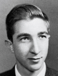 John Updike, as a senior at Harvard, in 1954.
