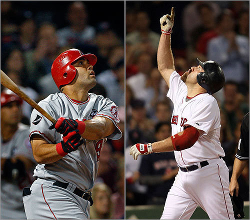 First basemen Kendry Morales vs. Kevin Youkilis In his first season as an everyday player, the 26-year-old Morales had a monster year, hitting .306 with 34 home runs, 108 RBI, and a .924 OPS. Youkilis, 30, had another strong season, hitting .305 with 27 homers, 94 RBI, and an OPS of .961. <!-- // define variables var date = new Date(); var current_time = date.getTime(); // write SCRIPT tag to browser document.writeln(' '); // -->