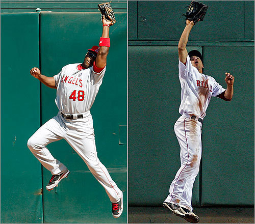 Center fielders Torii Hunter vs. Jacoby Ellsbury Torii Hunter, another proven Angels veteran, ended the regular season with a .299 average, 22, home runs, 90 RBI, and an .873 OPS. Jacoby Ellsbury smashed the Red Sox single-season stolen base record in '09 with 70 steals. He batted .301 with 8 homers, 60 RBI and a .770 OPS. <!-- // define variables var date = new Date(); var current_time = date.getTime(); // write SCRIPT tag to browser document.writeln(' '); // -->
