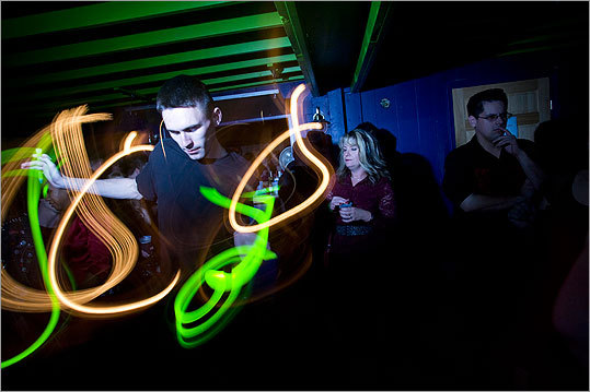 Canney worked the glowsticks at Xmortis Horror Hotel.