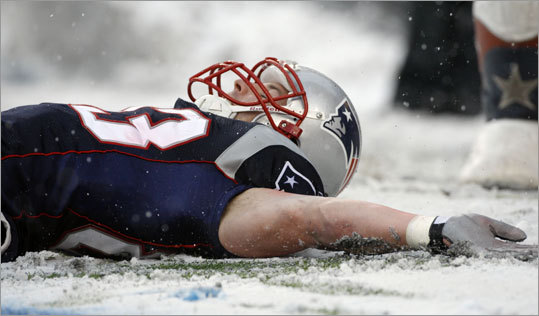 Dec. 21, 2008: Patriots 47, Cardinals 7 This one was also a rout, so much so that receiver Wes Welker found himself playing in the snow. Welker had seven catches for 68 yards and a touchdowns. Matt Cassel passed for 345 yards and three touchdowns, and the Patriots running game went for 183 yards. The Cardinals were held to 186 yards of total offense.