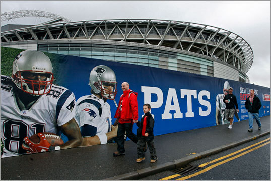 Sunday's Patriots-Bucs game, the only NFL regular season game in London this year, is sold out.