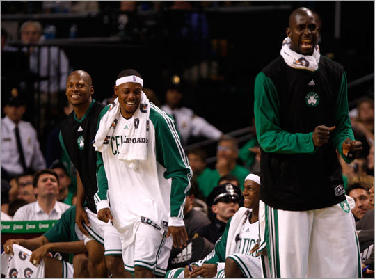 The Celtics starters got to spend the final minutes on the bench because the game was decided well before that. Boston crushed Charlotte in its home opener Wednesday at TD Garden.