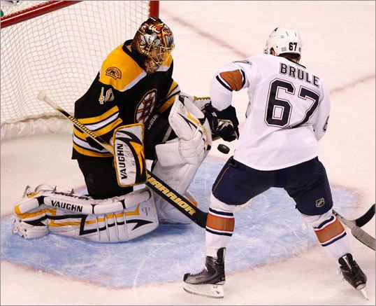 Slumping Sophmore Wheeler Nets Winner At 2:47 Of Third, Rask Racks Up Shutout, Bruins Overpower Oilers 2-0