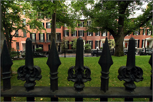 The iconic images of Beacon Hill -- the flickering gas lamps, the red-brick sidewalks, the wrought-iron fences -- are synonymous with Boston.