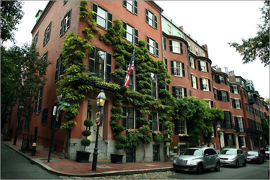 Louisburg Square -- with its magnificent Greek Revival townhouses and private park -- is the most prestigious address of them all.