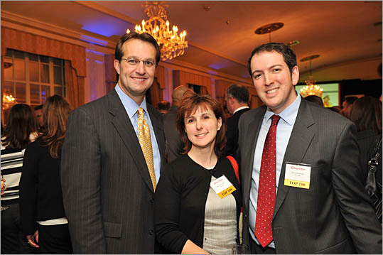 Part of the winning Comcast team: Stephen Hackley, left, Maureen Green, and Marc Goodman.