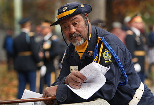 The parade attracted veterans from all eras, including Korean War veteran James Saucer of Boston.