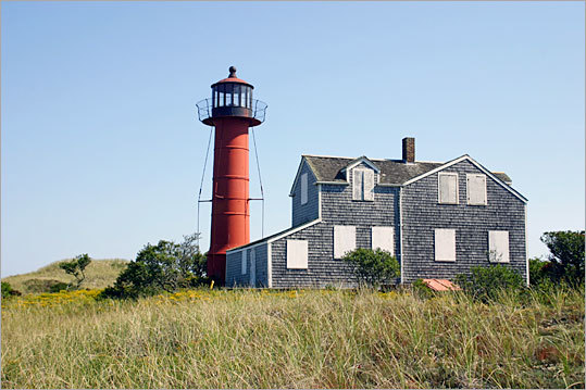 $1.5 million in stimulus funds were allocated to fix up the lighthouse on Monomoy Island, a remote strip of sand off Cape Cod with no residents, no electricity, and no roads.