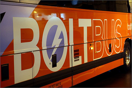 BoltBus and other new-on-the-scene bus carriers are trying to get the upper hand on the Boston-New York route.