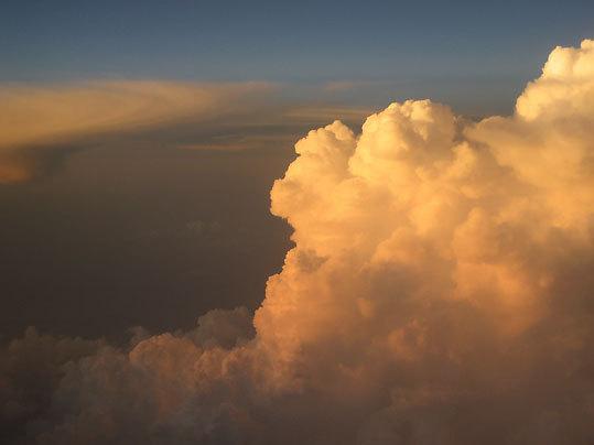 Taken over the Atlantic Ocean.