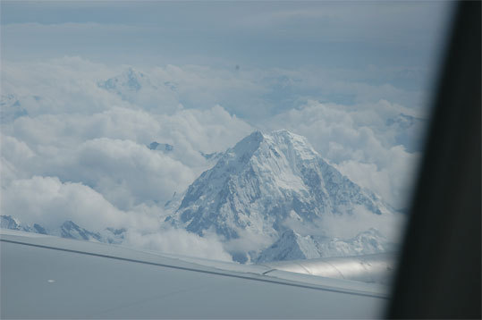 The Andes en route to Cusco, Peru from Lima.