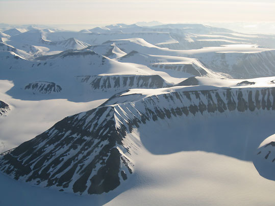 Descending into into Spitsbergen, Norway.
