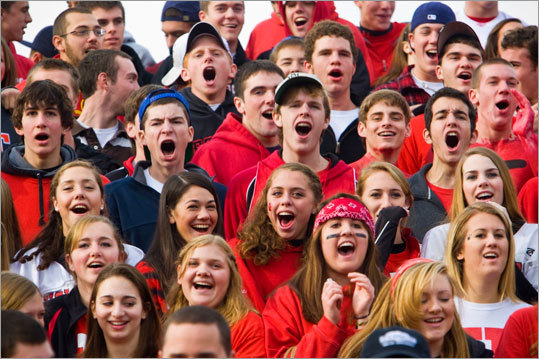 The cheering section for Holliston made their presence felt as their Panthers faced off with he Westwood Wolverines Thanksgiving Day.