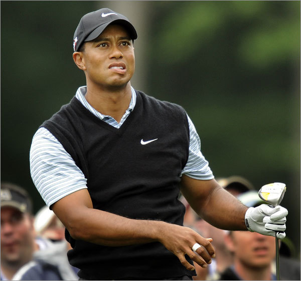 Tiger Woods, seen here at the U.S. Open in New York in June, told bawdy jokes and made distasteful remarks in a 1997 Esquire article written by Charles P. Pierce.