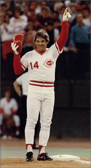 'Charlie Hustle' (or 'The Hit King' if you prefer) played every single position with the exception of shortstop, catcher, and pitcher in his 24-year career . Rose entered the league in 1963 as a second baseman for the Reds, moved to the outfield in '67, then to third base in '75. When he signed with the Phillies before the '79 season, he moved across the diamond to first base, where he played through the end of his career in '86.