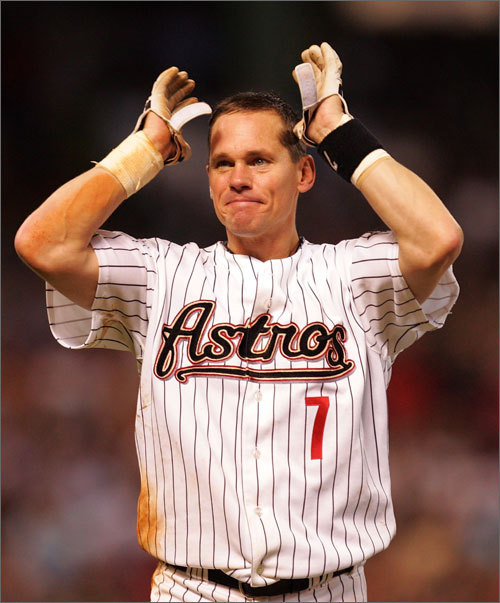 Now here's a player who made an improbable position change. Biggio began his 20-year career when he arrived with the Astros in 1988 as a catcher . In 1990, he started 101 games at catcher, but also got 44 starts in the outfield. Then, in 1992, he made the biggest transition, moving to second base in part because he had become such a valuable offensive player that the Astros wanted to save him some wear and tear. The career-long Astro remained at second until 2004, when he moved to the outfield after the team acquired slugger Jeff Kent. Biggio compiled 3,060 hits before retiring after the 2007 season.