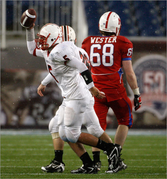 Reading's Ross DiMattei recovered a Natick fumble.
