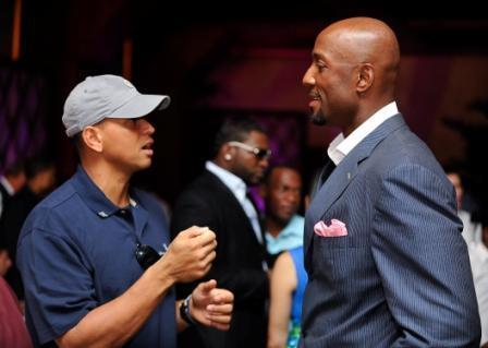 Alex Rodriguez and Alonzo Mourning