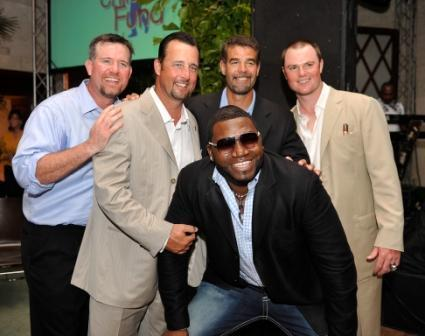 Sean Casey, Tim Wakefield, Mike Lowell, David Ortiz and Jon Lester