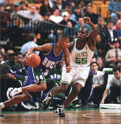 Allen was drafted fifth overall and selected by the Minnesota Timberwolves.However, almost as quickly as he was drafted, he was traded to the Milwaukee Bucks along with Andrew Lang for the fourth pick in the draft, Stephon Marbury.