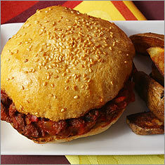 sloppy joes with oven fries