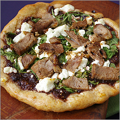 Fig and lamb flatbreads