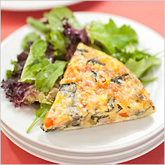 White bean and vegetable frittata