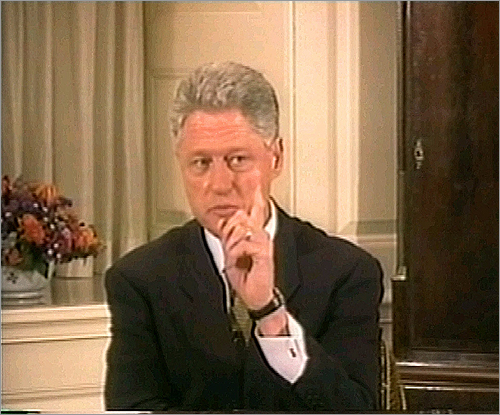 Couldn't leave this one out. President Bill Clinton was accused of committing perjury by saying under oath that he 'did not have sexual relations' with Monica Lewinsky, a White House intern. The president said that whether he had sexual relations with Lewinsky depended on how sex is defined, and 'what the meaning of the word 'is' is.'