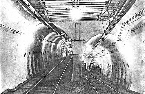 ... And how the tunnel looked when it was in use in 1898.