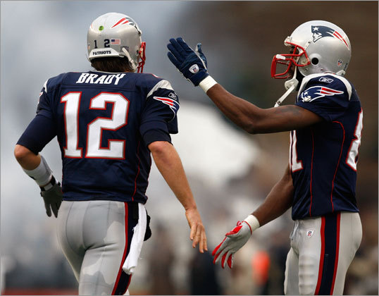Brady and Moss would connect for three touchdown passes against the Jaguars.