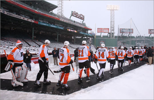 The Flyers took their turn on the ice later Thursday afternoon.