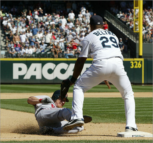 Beltre's breakthrough season was rather well timed -- he was a free agent after '04 and signed a five-year, $64 million deal with the Seattle Mariners. But he matched his monstrous numbers during his final season in LA with Seattle. His best season was 2007, when he batted .276 with 26 homers, 99 RBIs, and an .802 OPS. Beltre never had an on-base percentage above .327 with Seattle, and his peak slugging percentage was .482.
