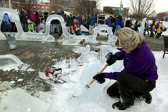 Burlington Winter Festival Feb. 5, ECHO Lake Aquarium and Science Center, Burlington, Vt. Enjoy a snow carving competition and a 'Penguin Plu