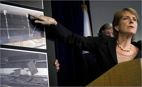 After the Big Dig ceiling collapsed in 2006, Coakley, as attorney general, helped wrest more than half a billion dollars in givebacks from the project's contractors. She also announced an indictment against Powers Fasteners Inc., the company that sold the epoxy to contractors that was used in the Big Dig tunnel.