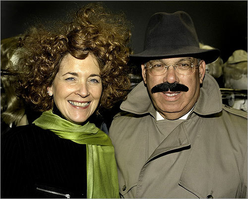 Coakley and Mayor Thomas Menino are shown during the 2006 11th annual Banned in Boston to benefit Urban Improv. Coakley dressed as Teresa Heinz Kerry and Menino as Inspector Clouseau.