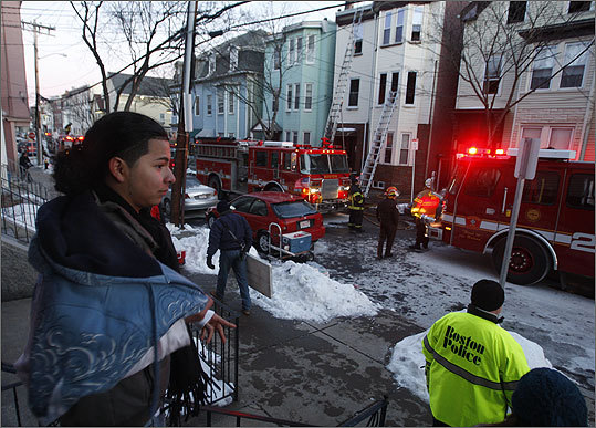 Herberth Portillo, 20, a resident at 125 Princeton St. where a 4-alarm fire caused major damage to a entire triple decker on Saturday Jan. 9.