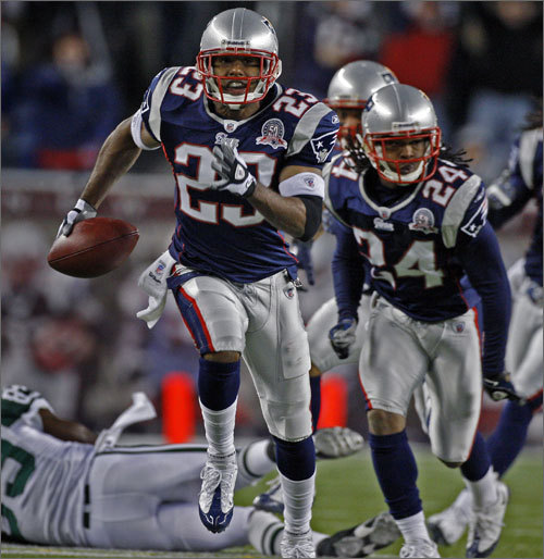 Games played: 16 Stats: 55 tackles, 5 interceptions, 1 TD, 1 forced fumble Season highlight: In the Patriots' Week 11 game against the Jets, Bodden had 3 interceptions, 60 interception return yards and one touchdown. <!-- // define variables var date = new Date(); var current_time = date.getTime(); // write SCRIPT tag to browser document.writeln(' '); // -->