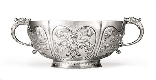 Now 300 years old, the Loring Bowl, as it is known, will be the star of the show at Sotheby's auction of early American silver in New York on Jan. 22. It is, by far, the biggest bowl of its kind and period that Sotheby's has ever handled.