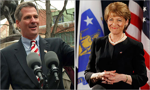 Scott Brown and Martha Coakley