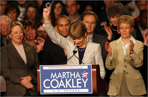 Martha Coakley gave her concession speech at the Sheraton Boston.