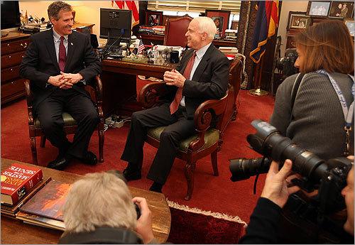 McCain and Brown met in McCain's office.