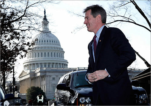 Brown arrived on Capitol Hill to attend meetings with several senators, including Republican John McCain of Arizona, Massachusetts Democrats John Kerry and Paul Kirk (whom Brown is replacing), and Minority Leader Mitch McConnell of Kentucky.