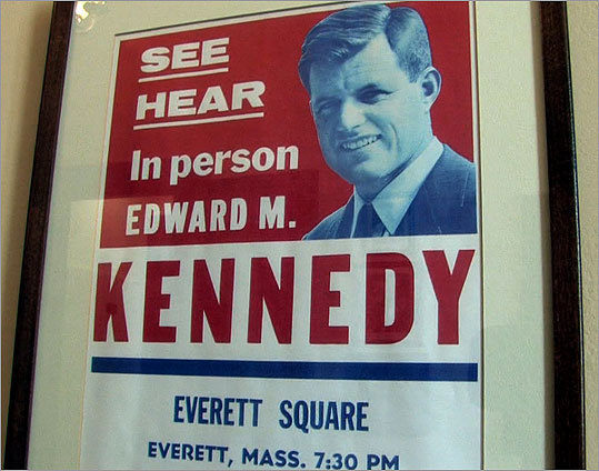 A campaign poster believed to be from Kennedy's first run for Senate, in 1962.