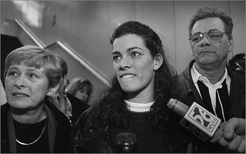 A brother of skating star Nancy Kerrigan (center) was charged with assaulting their father, Daniel Kerrigan, 70, (right) who was found unresponsive in his Stoneham home early Sunday morning and later died, Stoneham police said today. Related story Nancy Kerrigan's father dies; brother charged in attack